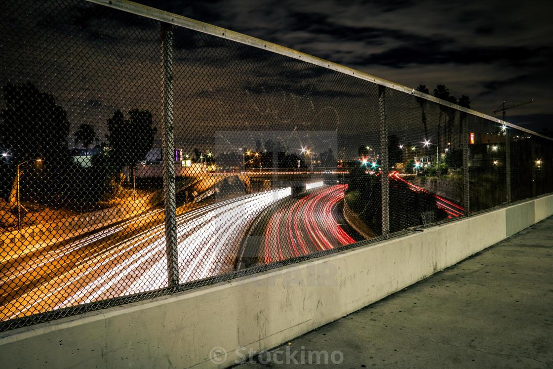 """""""Hollywood freeway time lapse"""" stock image"""