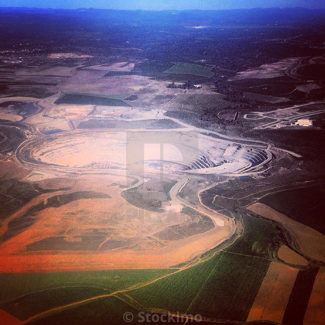 """""""Open-pit mine near Seville, Andalusia, Spain"""" stock image"""