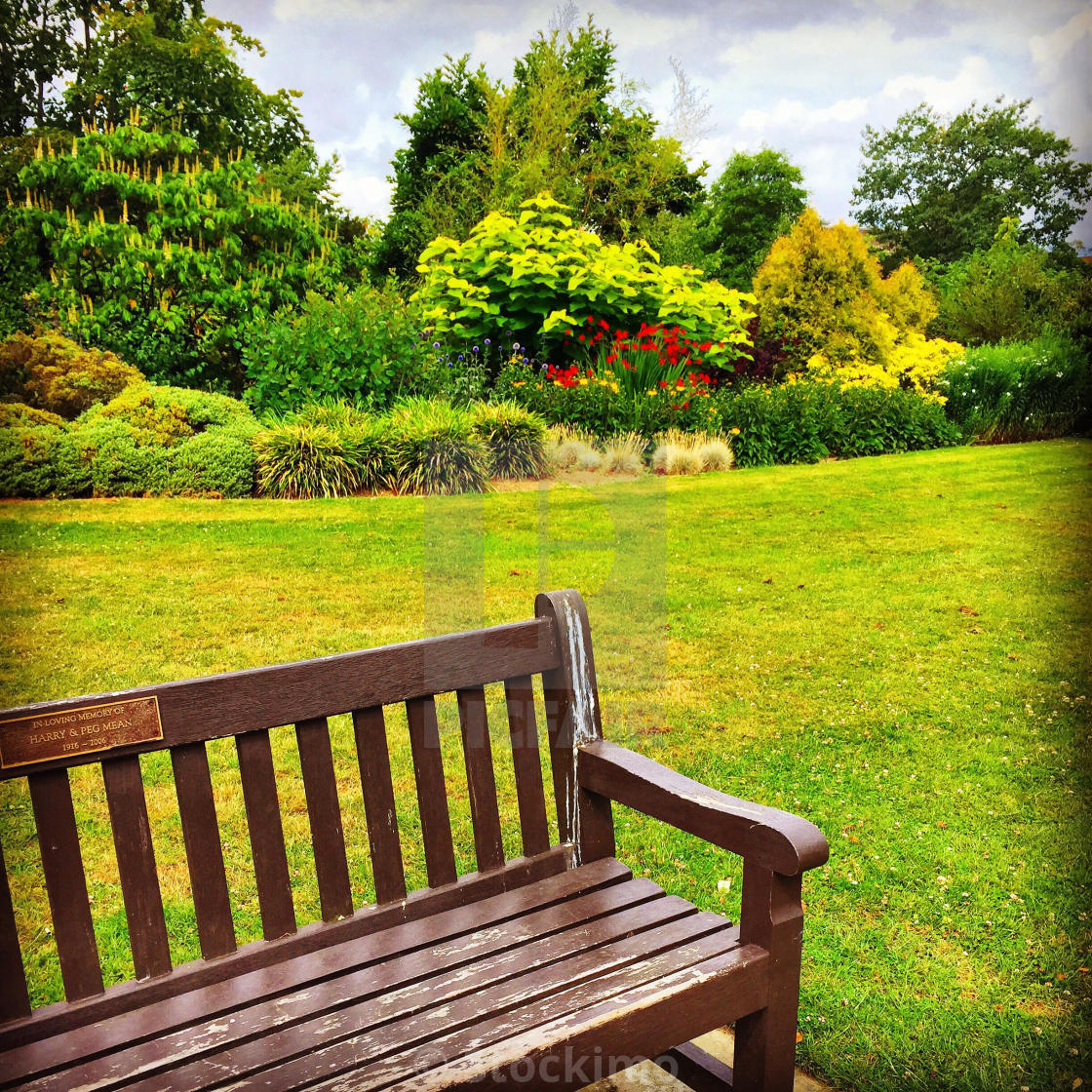 Bench In A Park London Uk License Download Or Print For 31 00