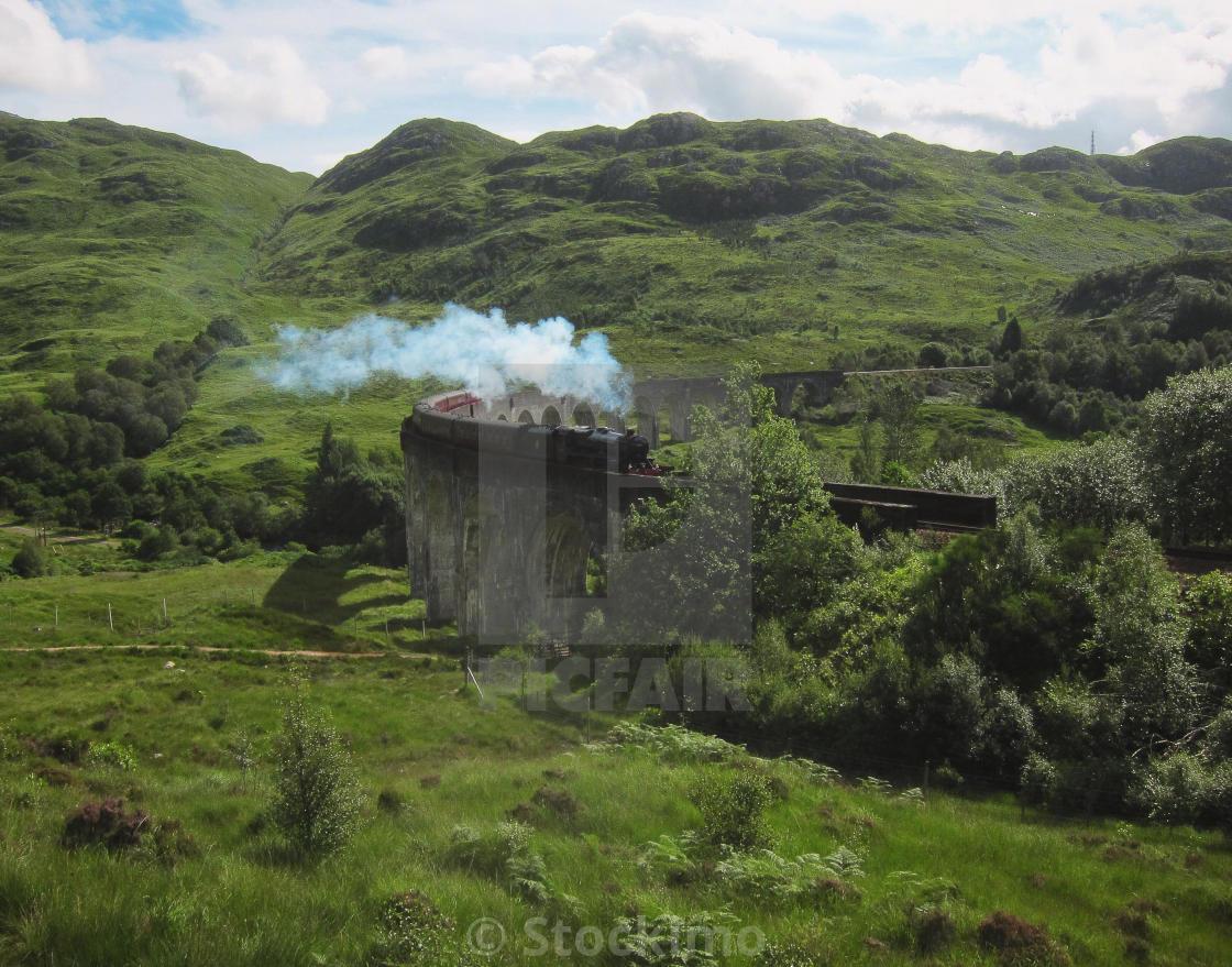 """Glenfinnan viaduct, Scotland"" stock image"