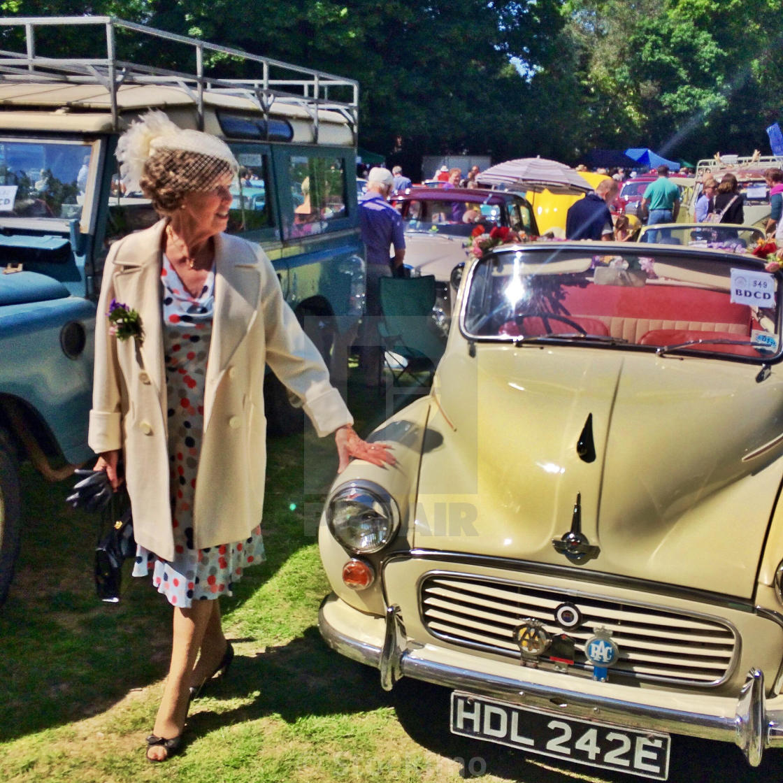 A Classic Car Owner At A Vintage Car Show In England License For - Car show england
