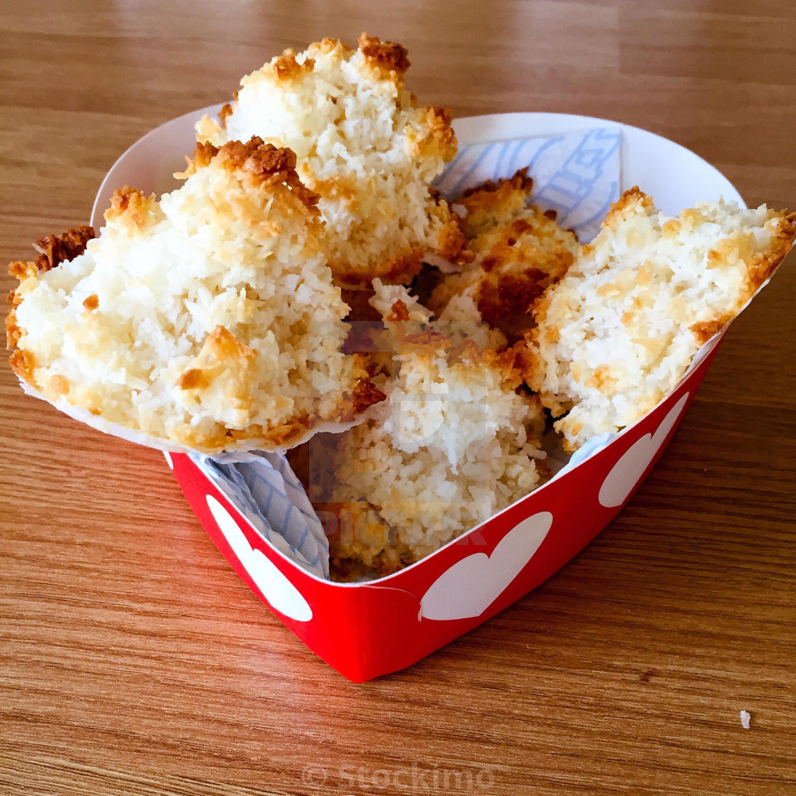 Handmade Coconut Macaroons In A Gift Box License Download Or Print For 31 00 Photos Picfair