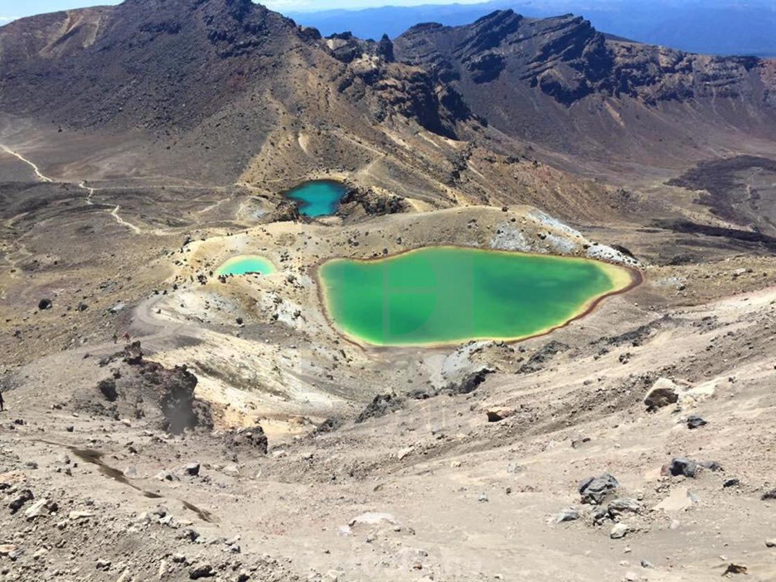 """Emerald Lakes, Tongariro Alpine Crossing, New Zealand"" stock image"