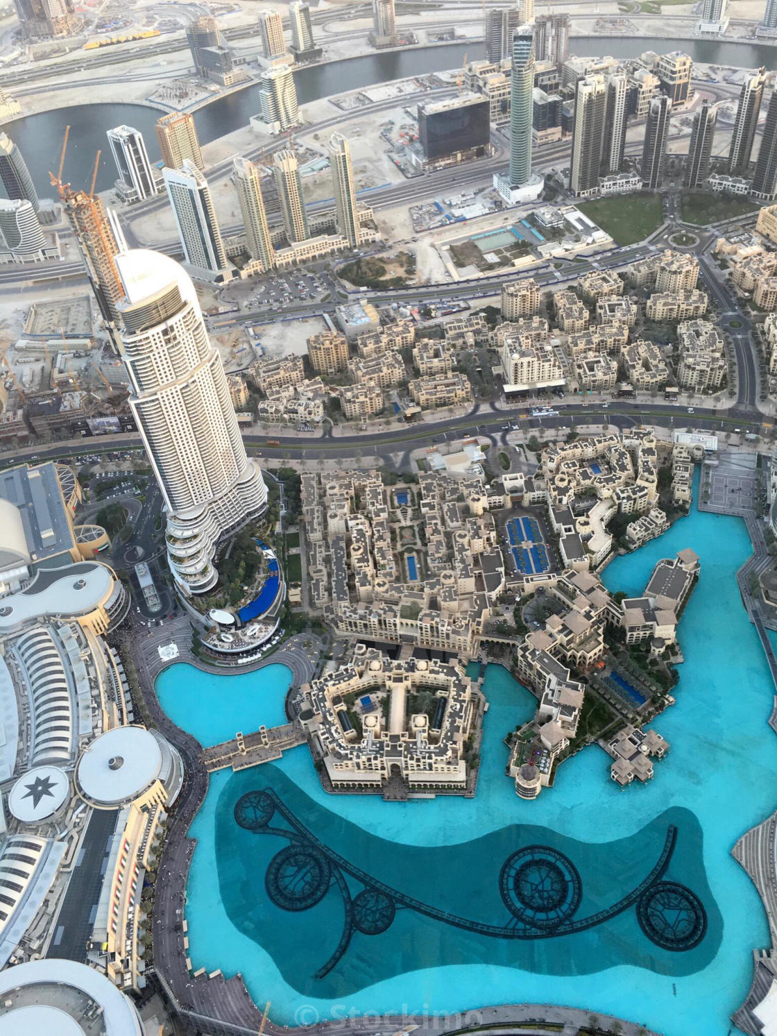Day view from the 124th floor of Burj Khalifa, Dubai, the