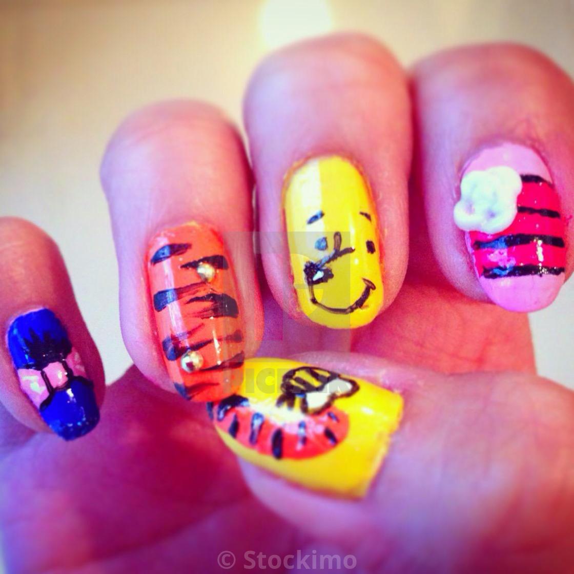 Winnie The Pooh Nail Art License For 3100 On Picfair