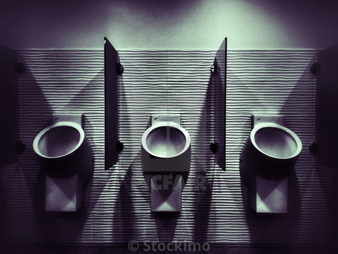 """""""Urinals on a public toilet for men."""" stock image"""