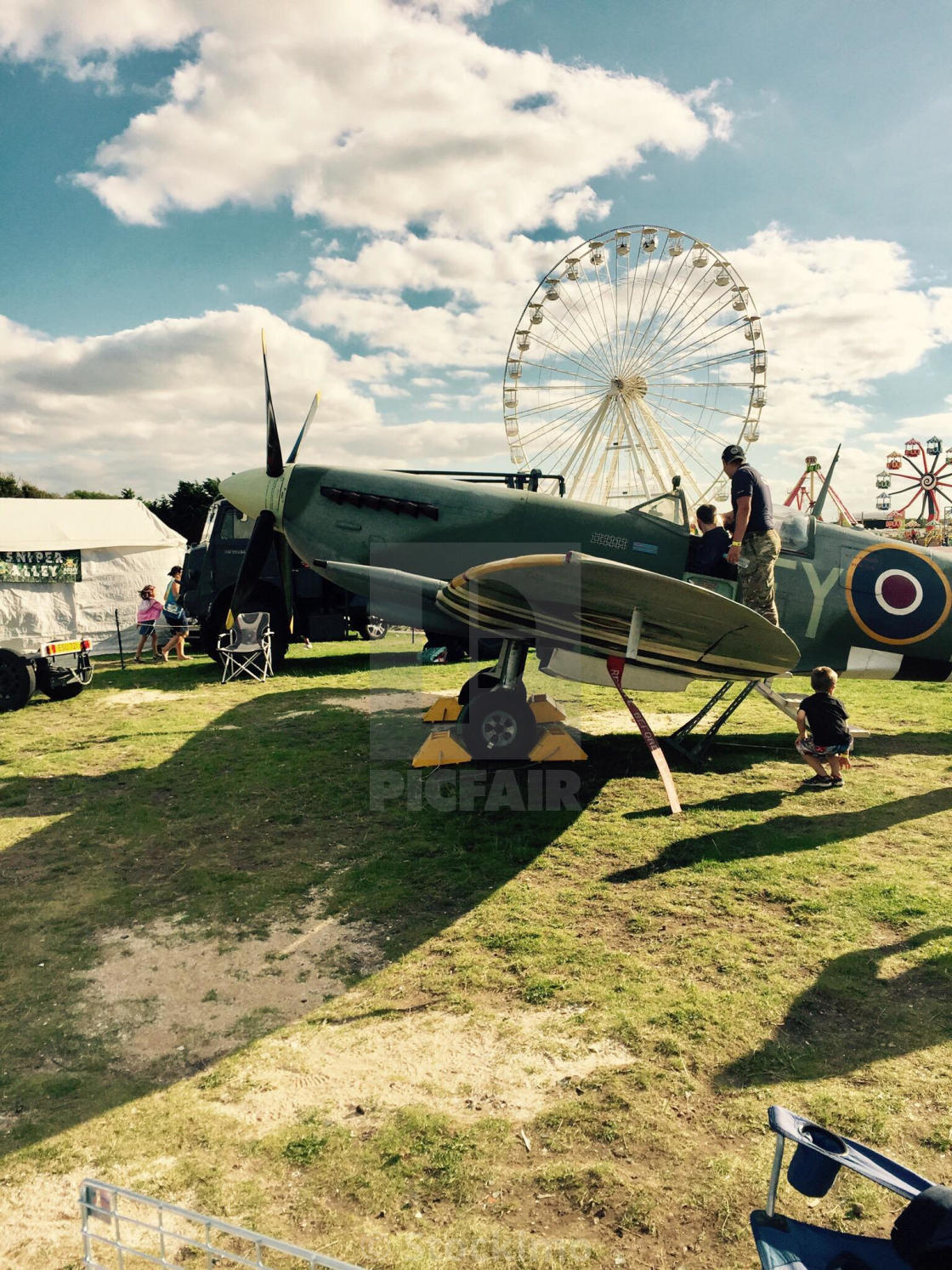 """""""Spitfire at southport air show 2016"""" stock image"""