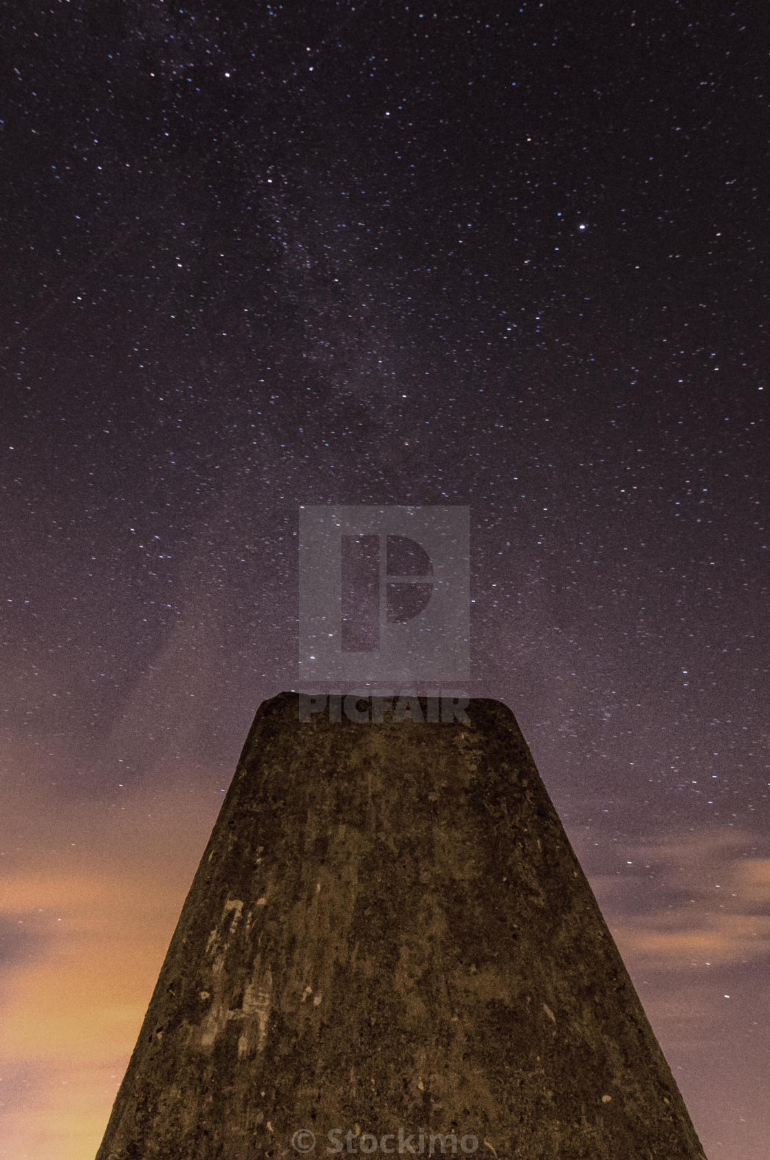 """Milky Way galaxy at Ivinghoe Beacon"" stock image"