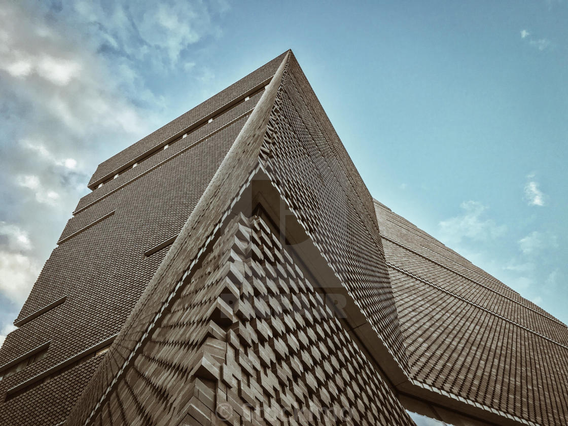 """Tate Modern extension. Switch House."" stock image"