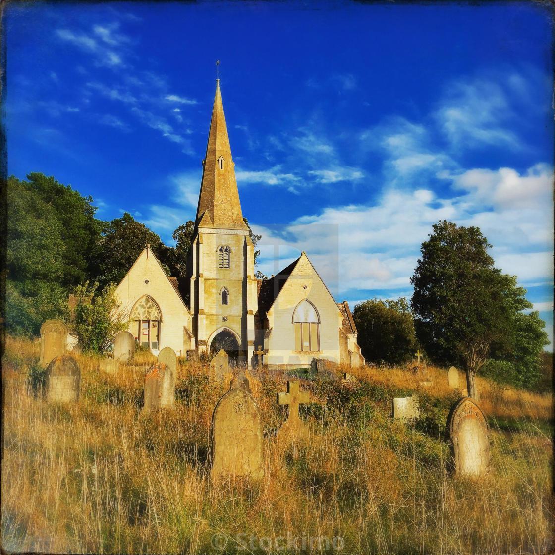 """Graveyard in England"" stock image"
