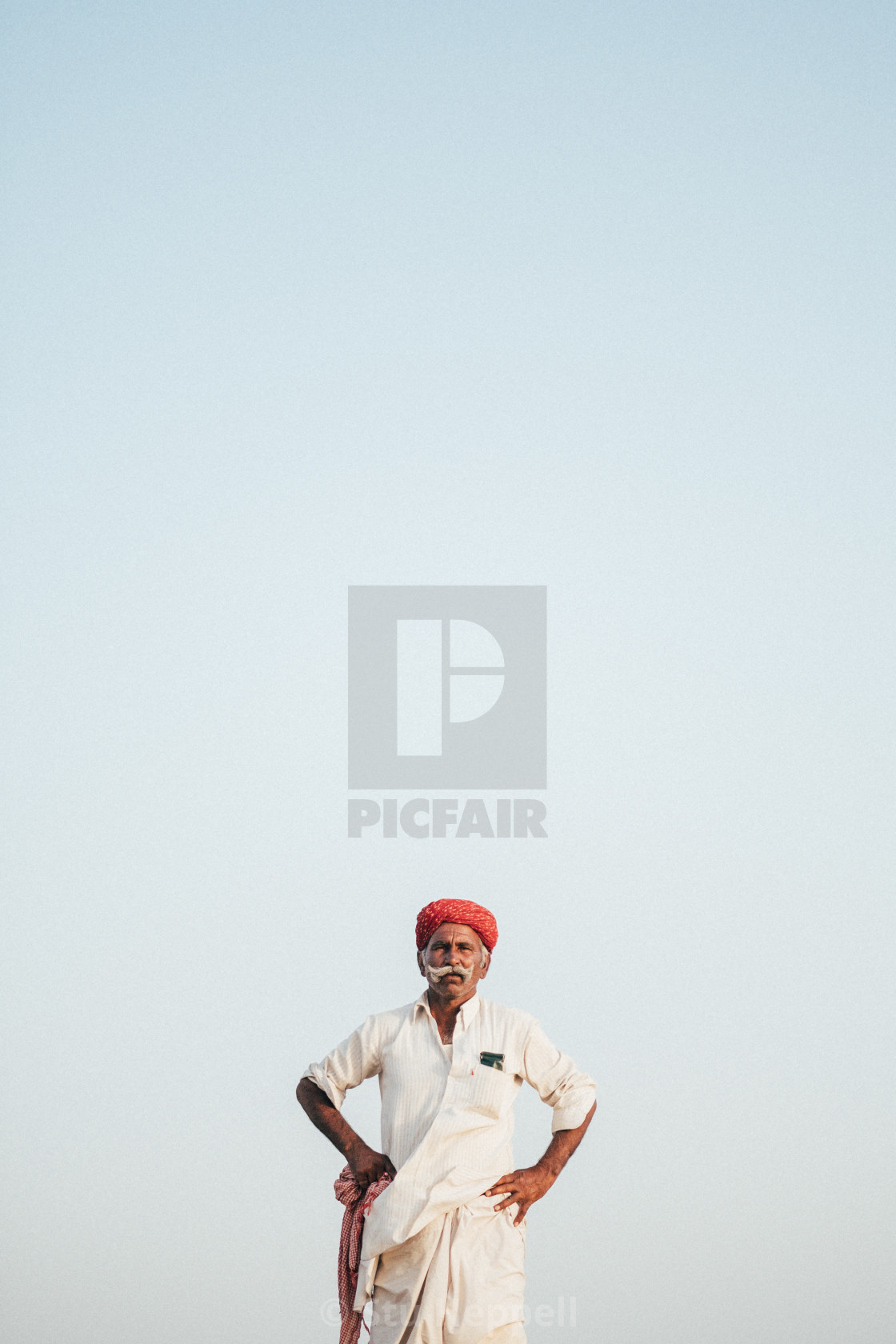 """Portrait of a Camel Driver"" stock image"