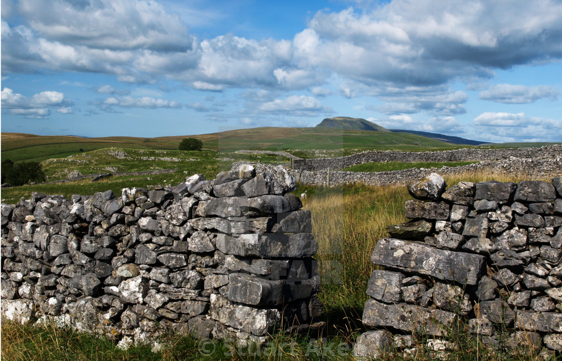 """Dry Stone Wall with Gap"" stock image"