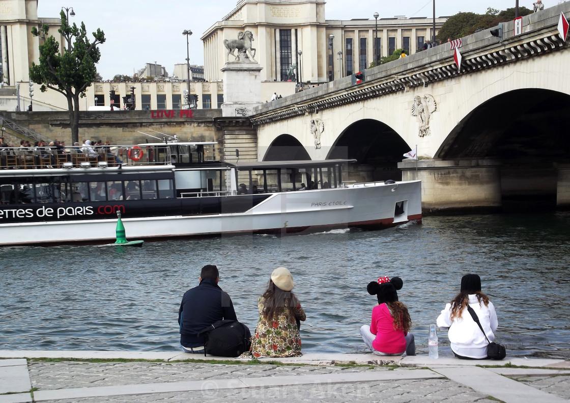 """Embankment in Paris"" stock image"