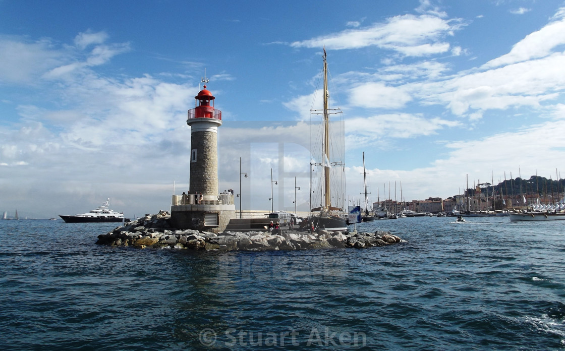 """Lighthouse at St Tropez"" stock image"