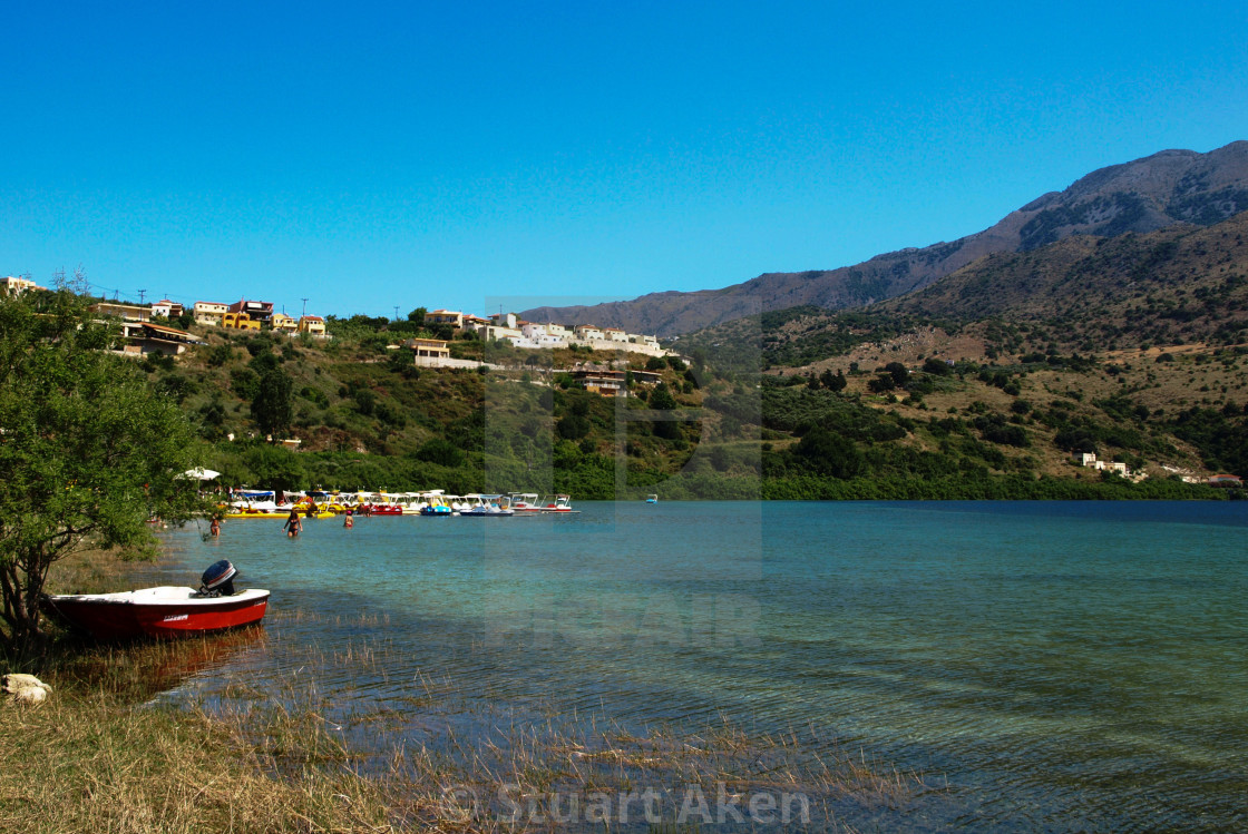 """Cretan Lake"" stock image"