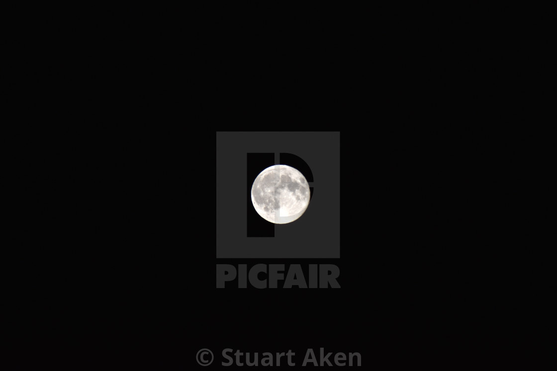 """Black Sky, Full Moon"" stock image"