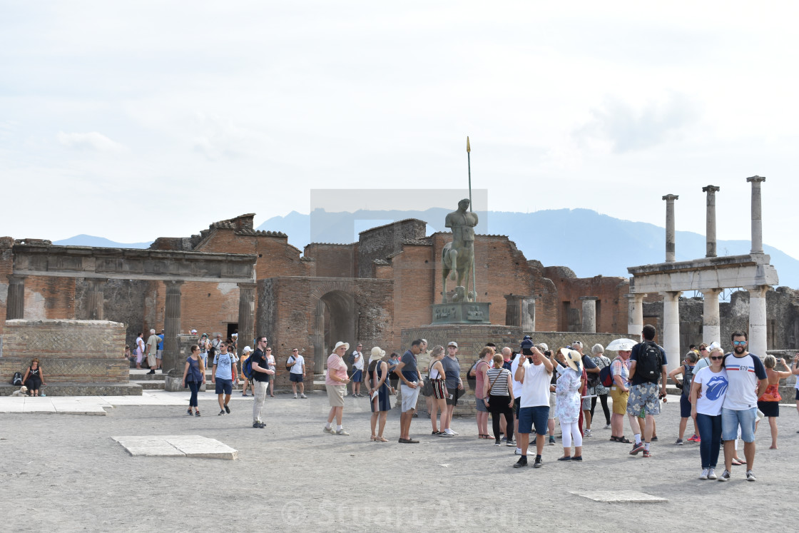 """A Square in Pompeii"" stock image"