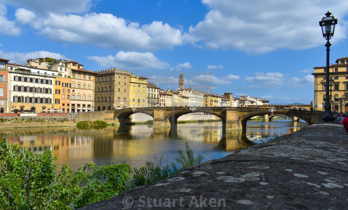"""""""Ponte S Trinita in Florence"""" stock image"""