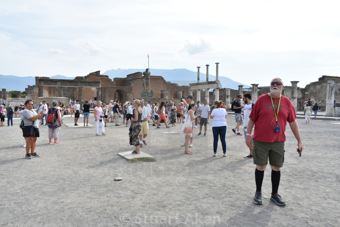 """Visitors to Pompeii"" stock image"