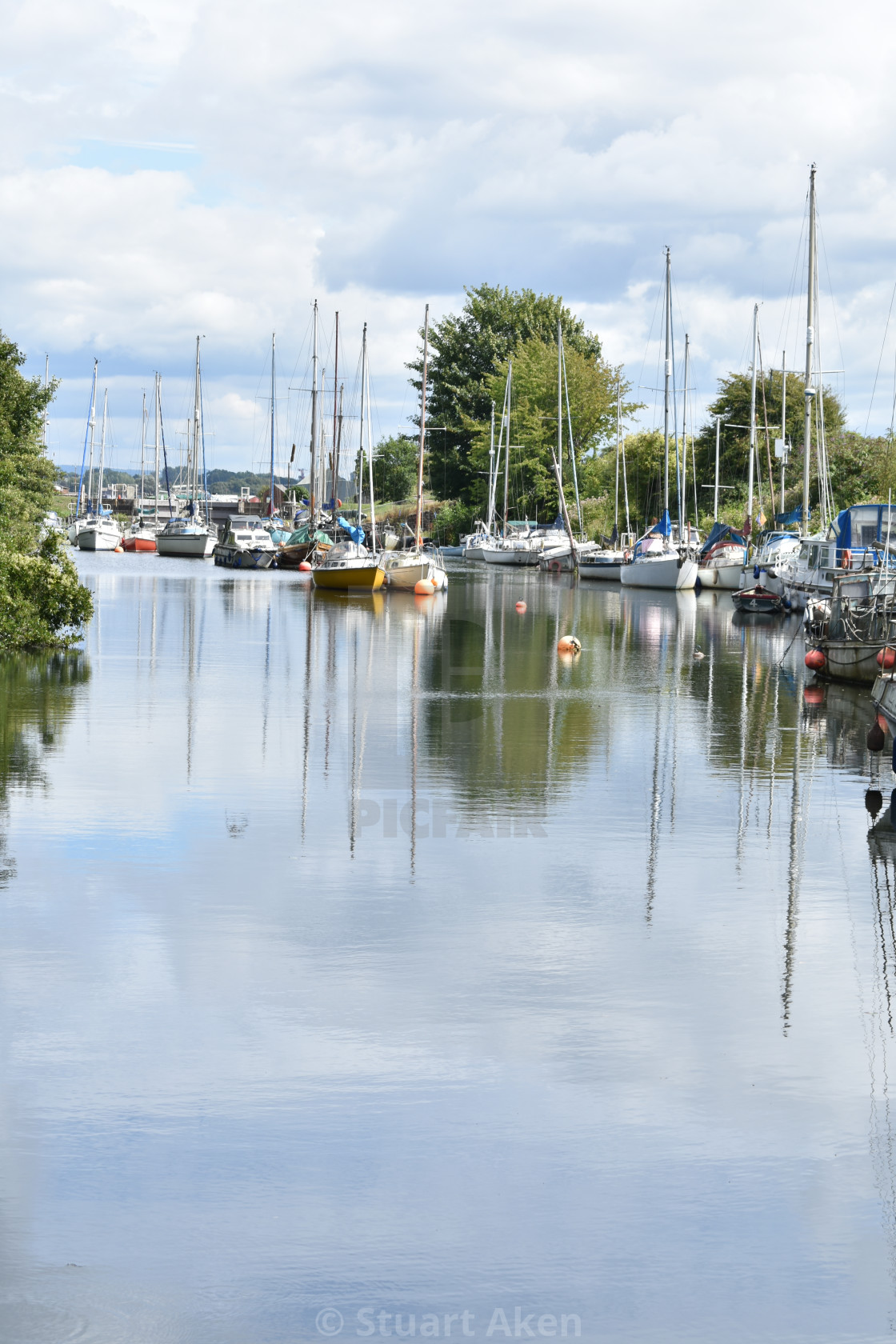 """In Lydney Marina"" stock image"
