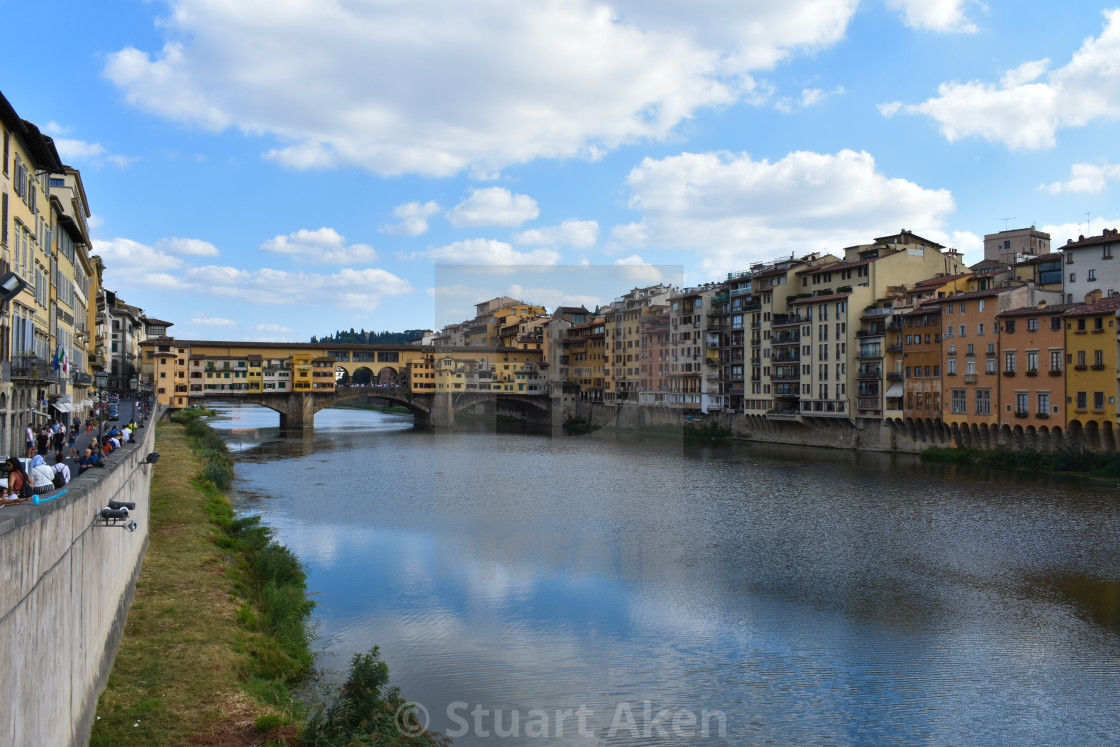 """River Arno in Florence"" stock image"