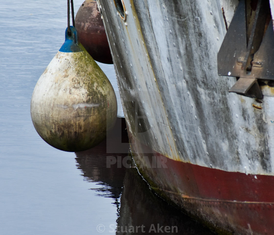 """""""Boat and Buoy"""" stock image"""