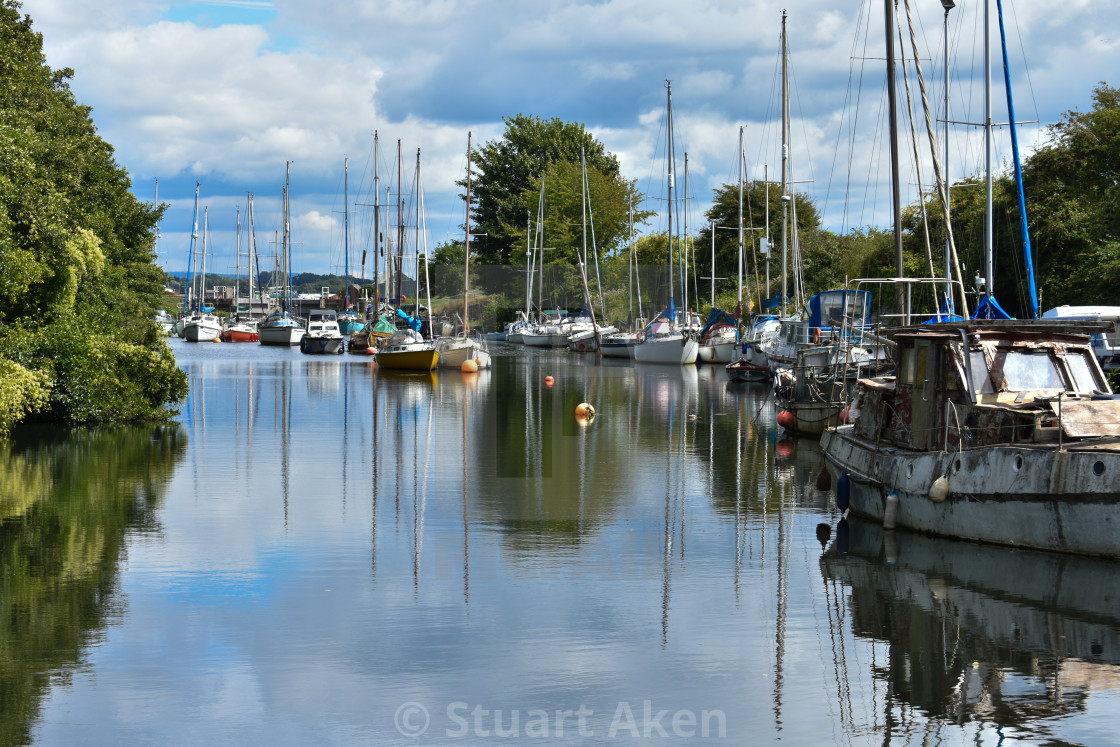 """""""Boats Afloat"""" stock image"""