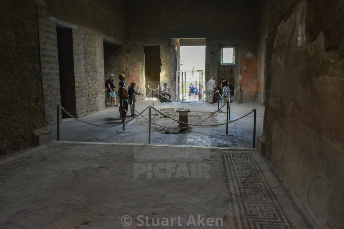 """""""Inside the High Status House in Pompeii"""" stock image"""