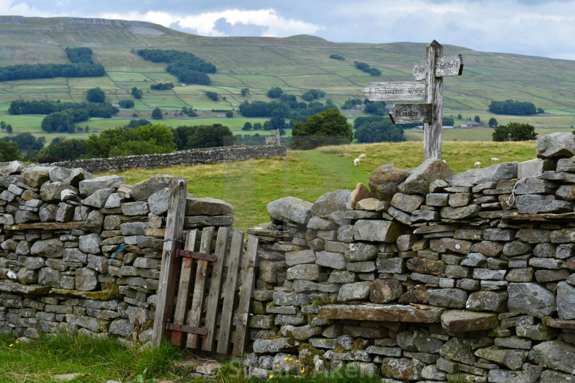 """Pennine Way Gateway"" stock image"