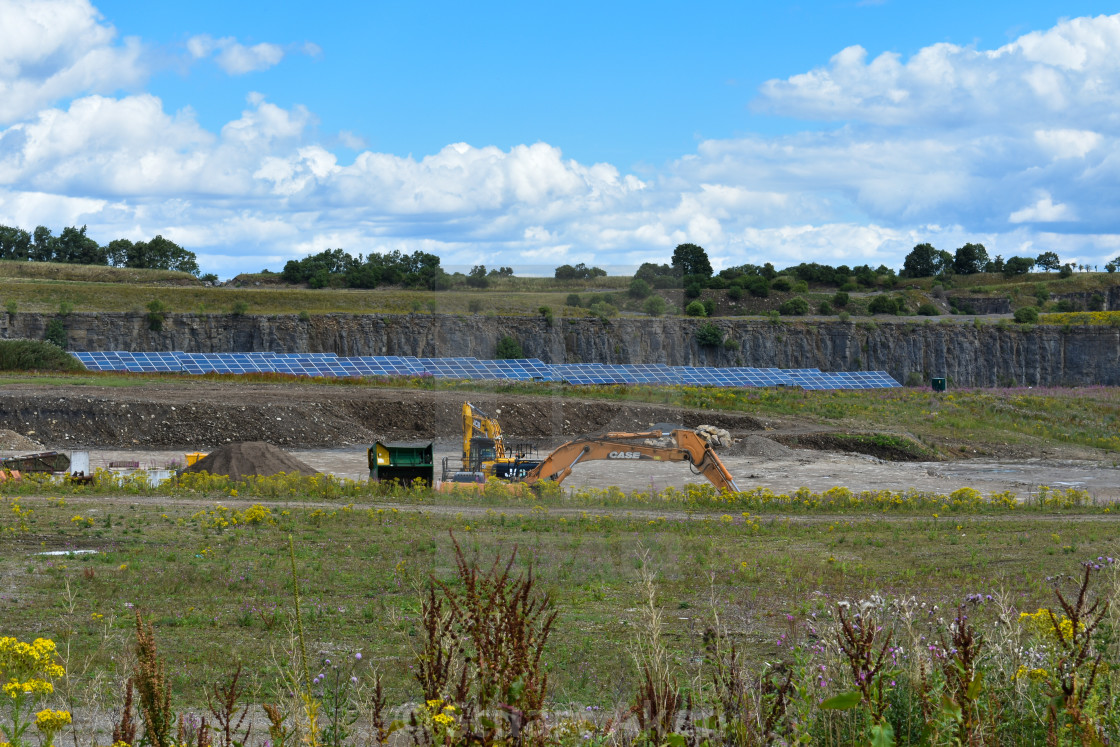 """Quarry with Solar Farm"" stock image"