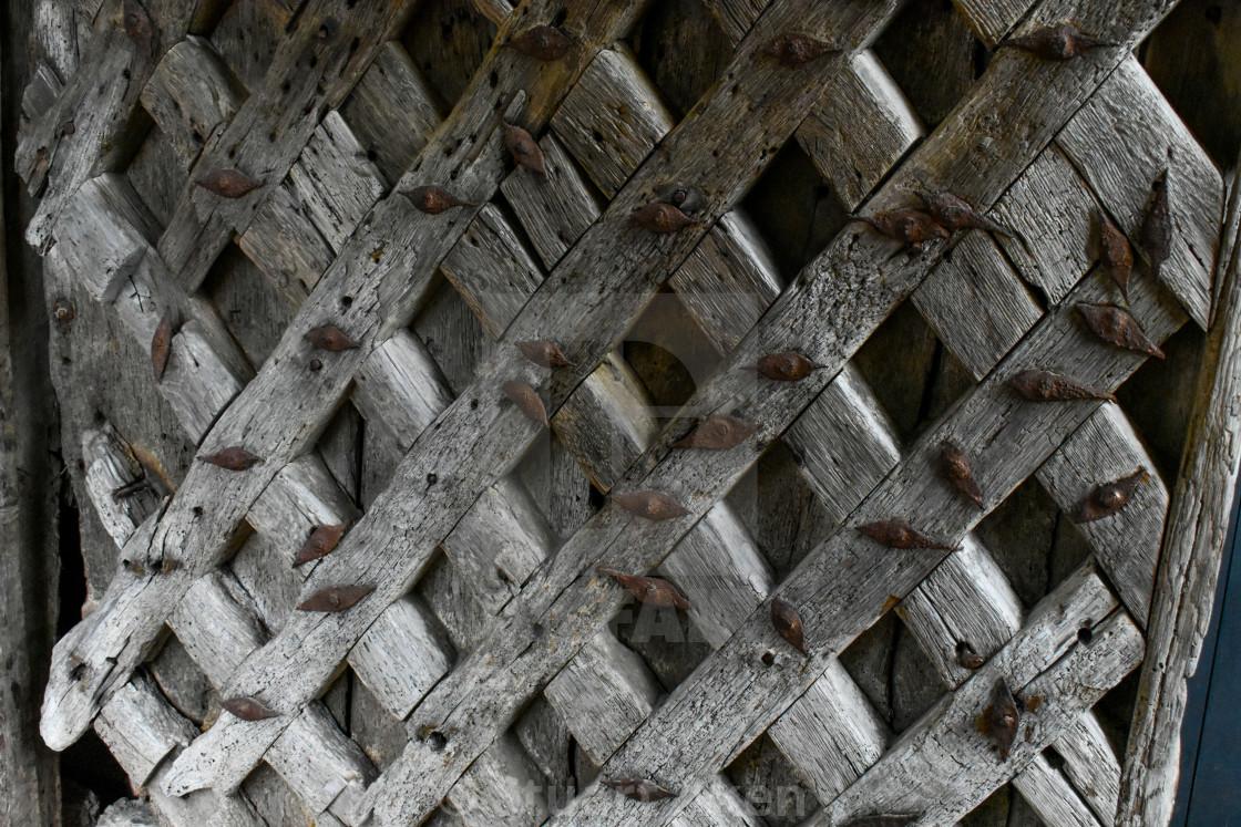 """Ancient Wooden Lattice"" stock image"