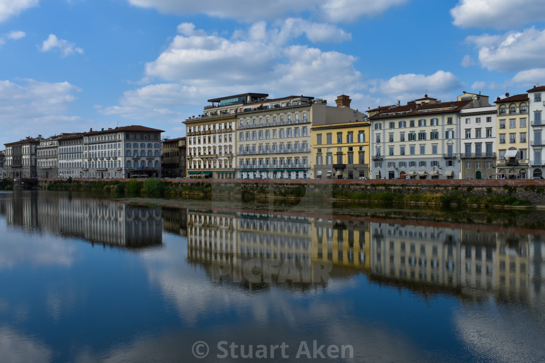 """Arno Reflections in Florence."" stock image"