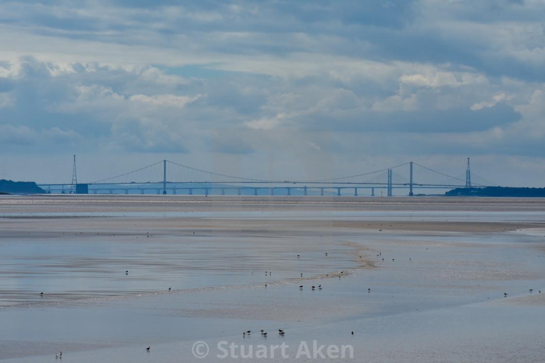 """Bridges Across the River Severn"" stock image"