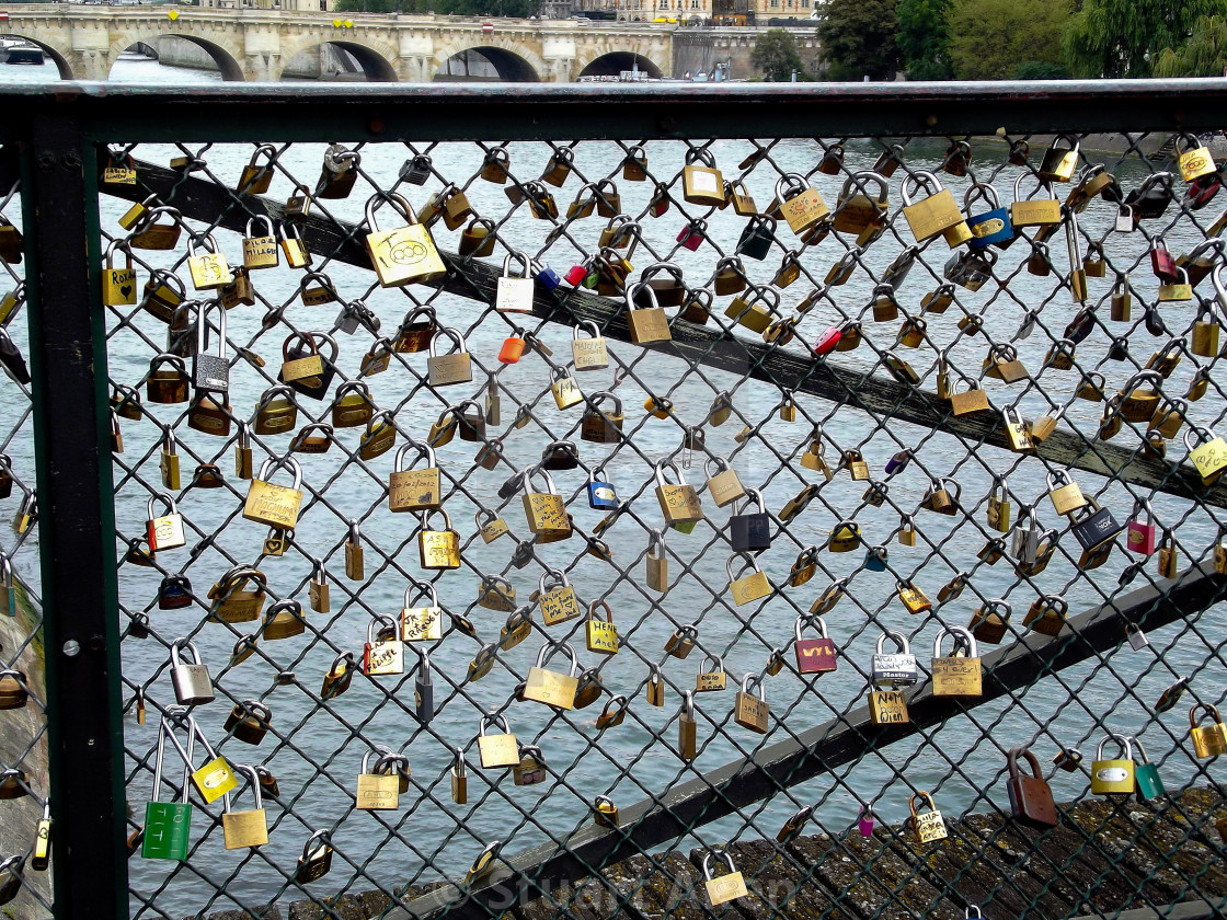 """Love is Locked in Paris, France"" stock image"
