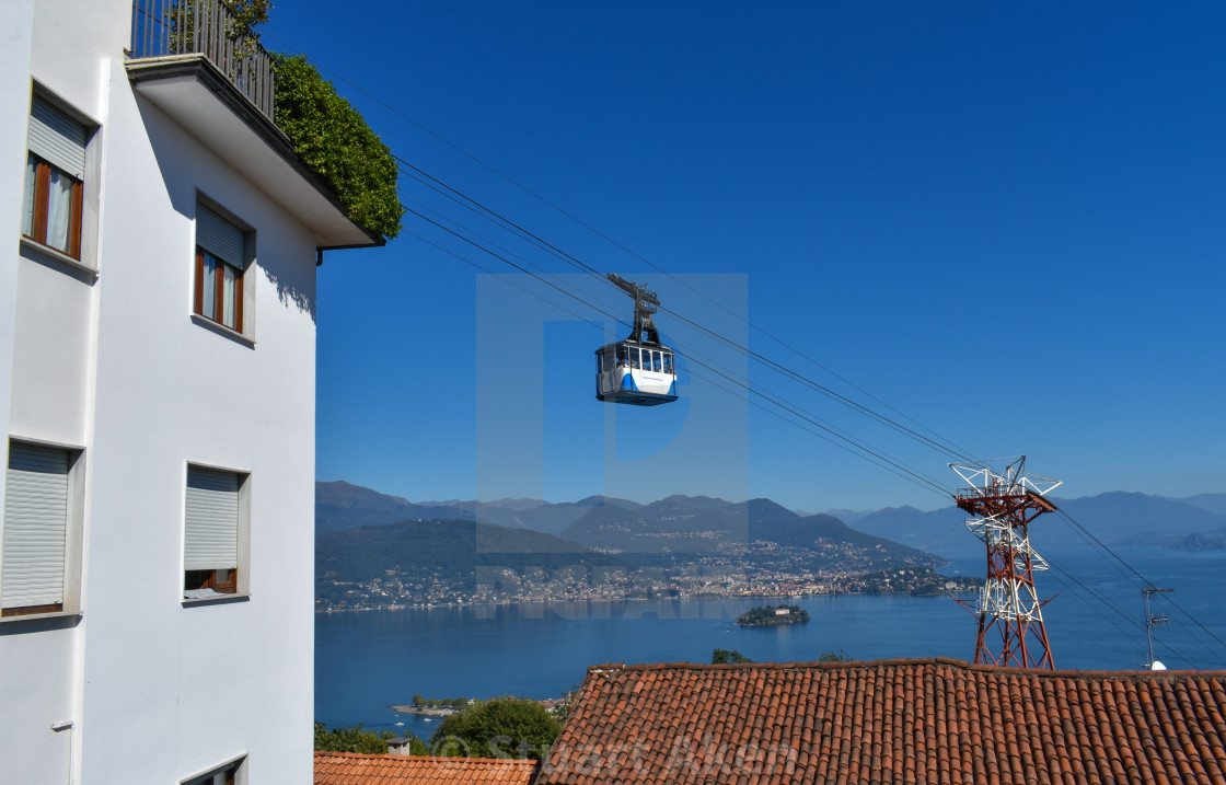 """Motaronne Cable Car in Stresa, Italy"" stock image"