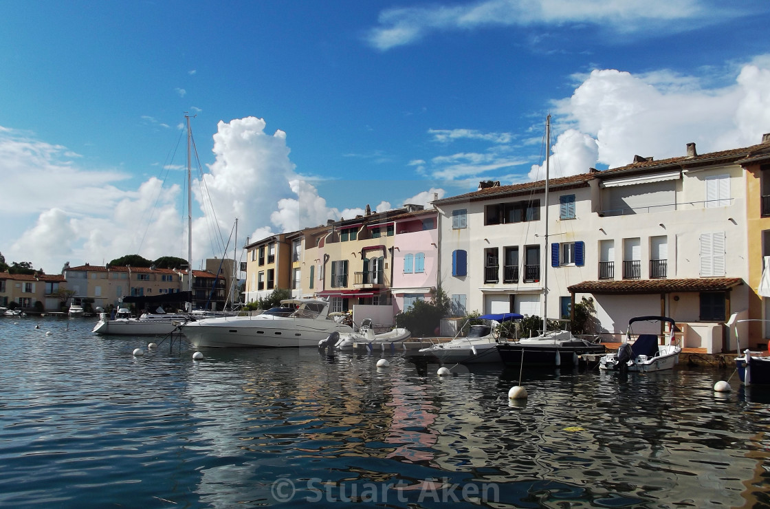 """At Port Grimaud"" stock image"