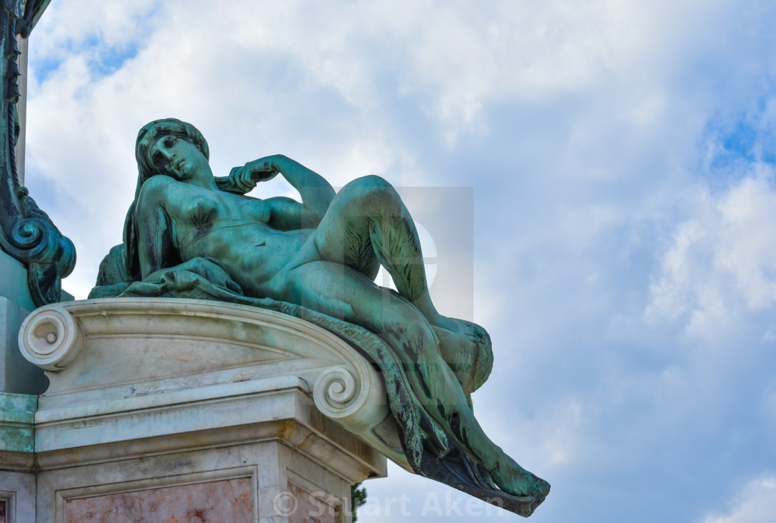 """Aurora in Piazzale Michelangelo in Florence"" stock image"