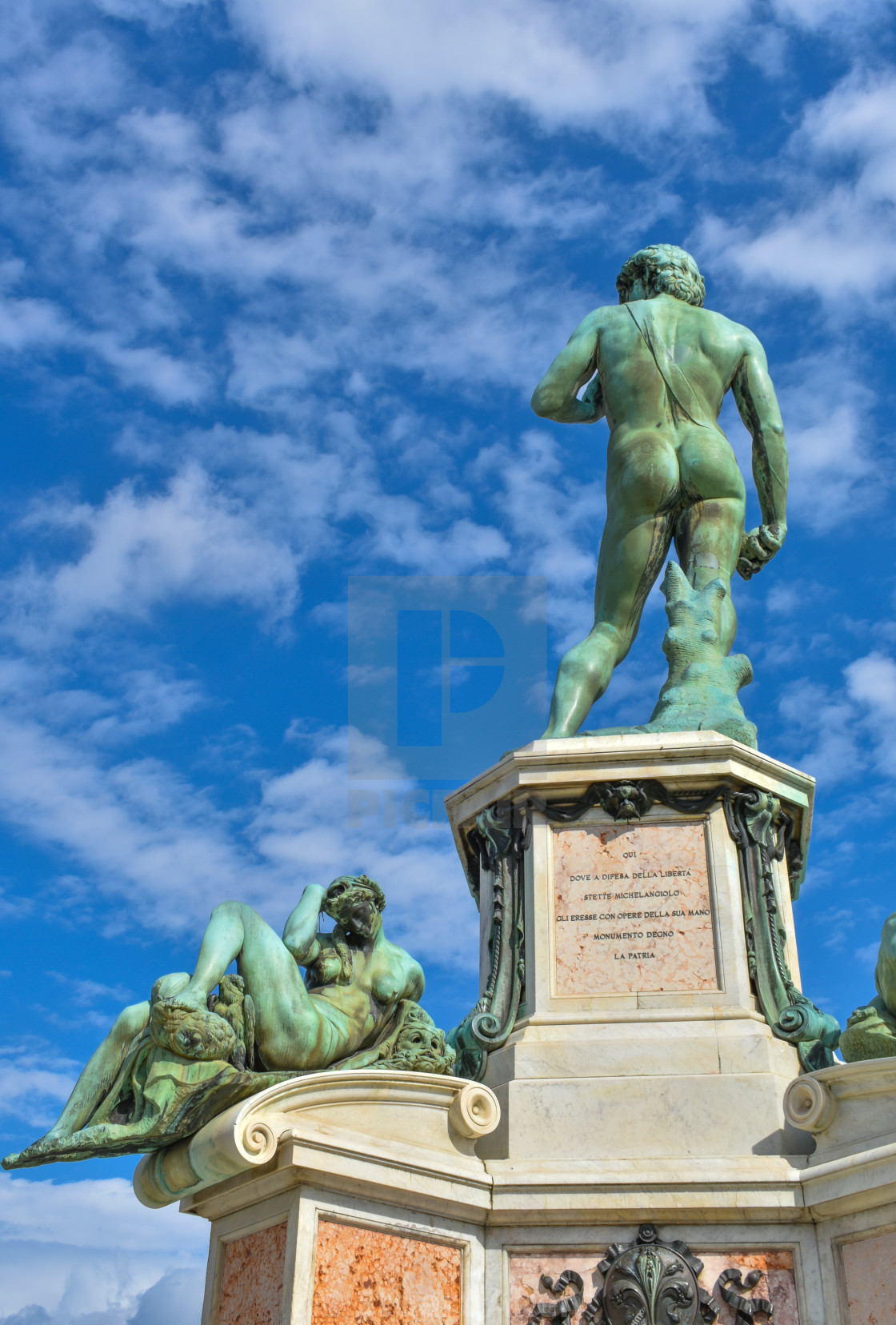 """David and The Night, Piazzale Michelangelo"" stock image"