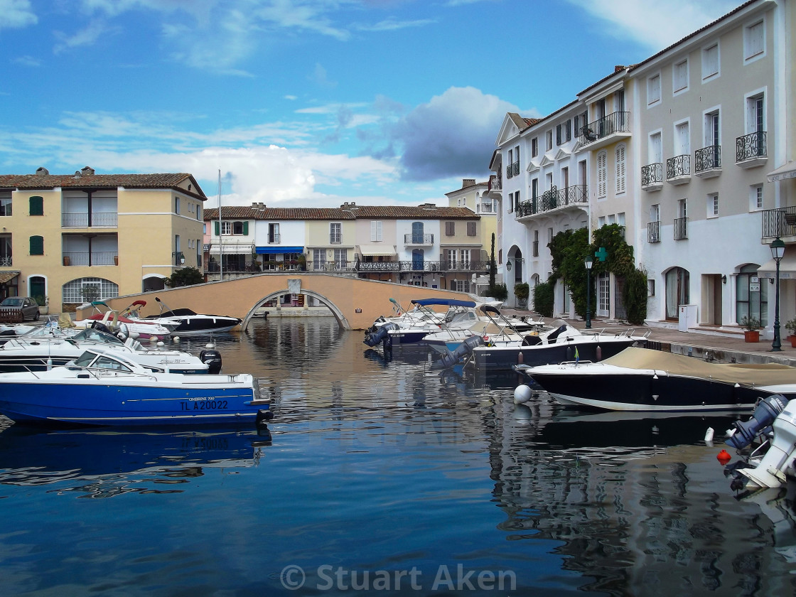 """Boats in Port Grimaud"" stock image"