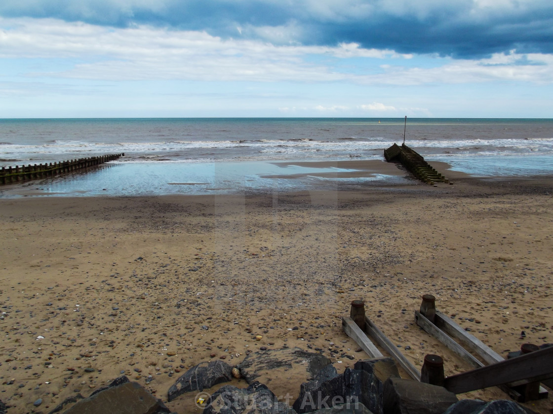 """Coast at Hornsea East Yorkshire"" stock image"