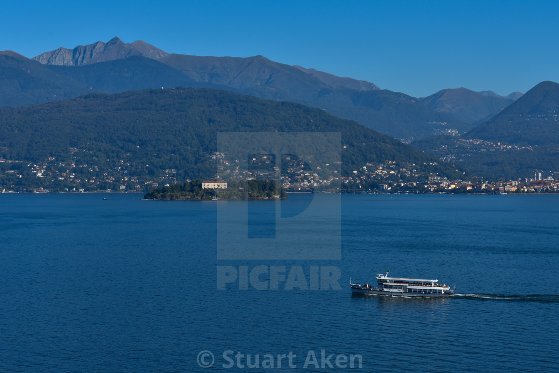 """Ferry on Lake Maggiore"" stock image"
