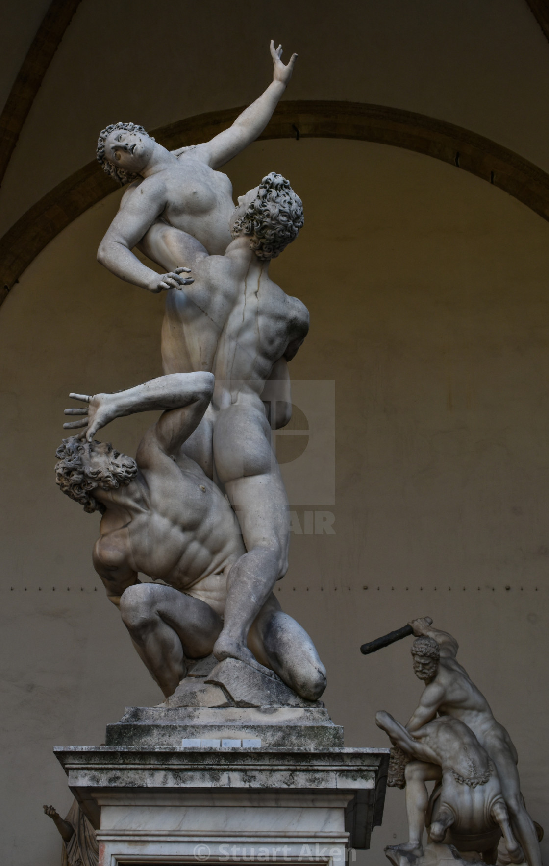 """In Florence, the Sculptures Seem Alive"" stock image"