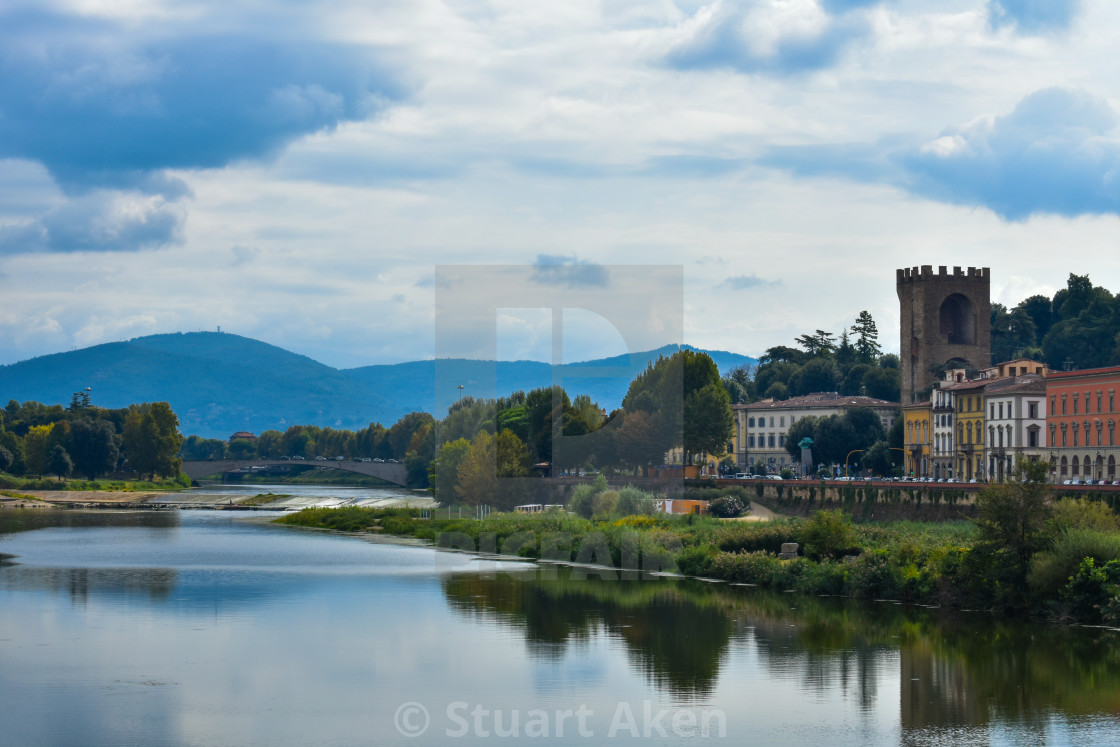 """On the Banks of the Arno"" stock image"