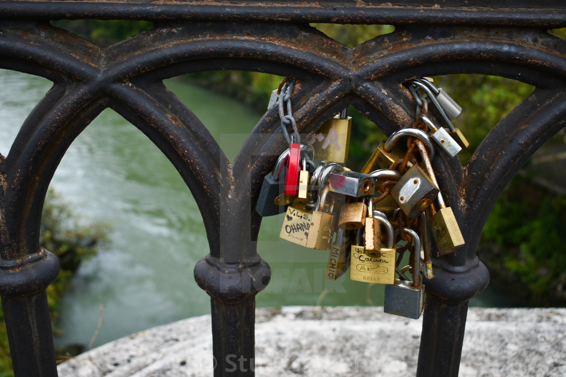 """Padlocked Love in Roma"" stock image"