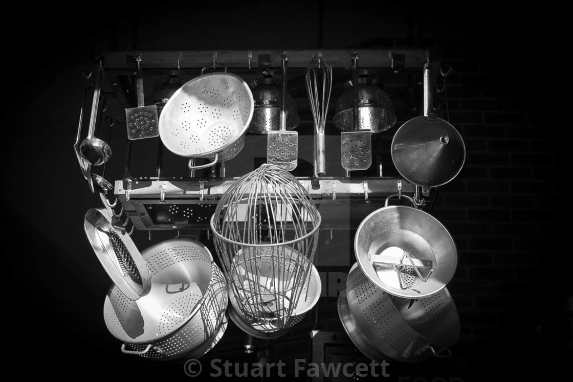"""Pots and Pans"" stock image"