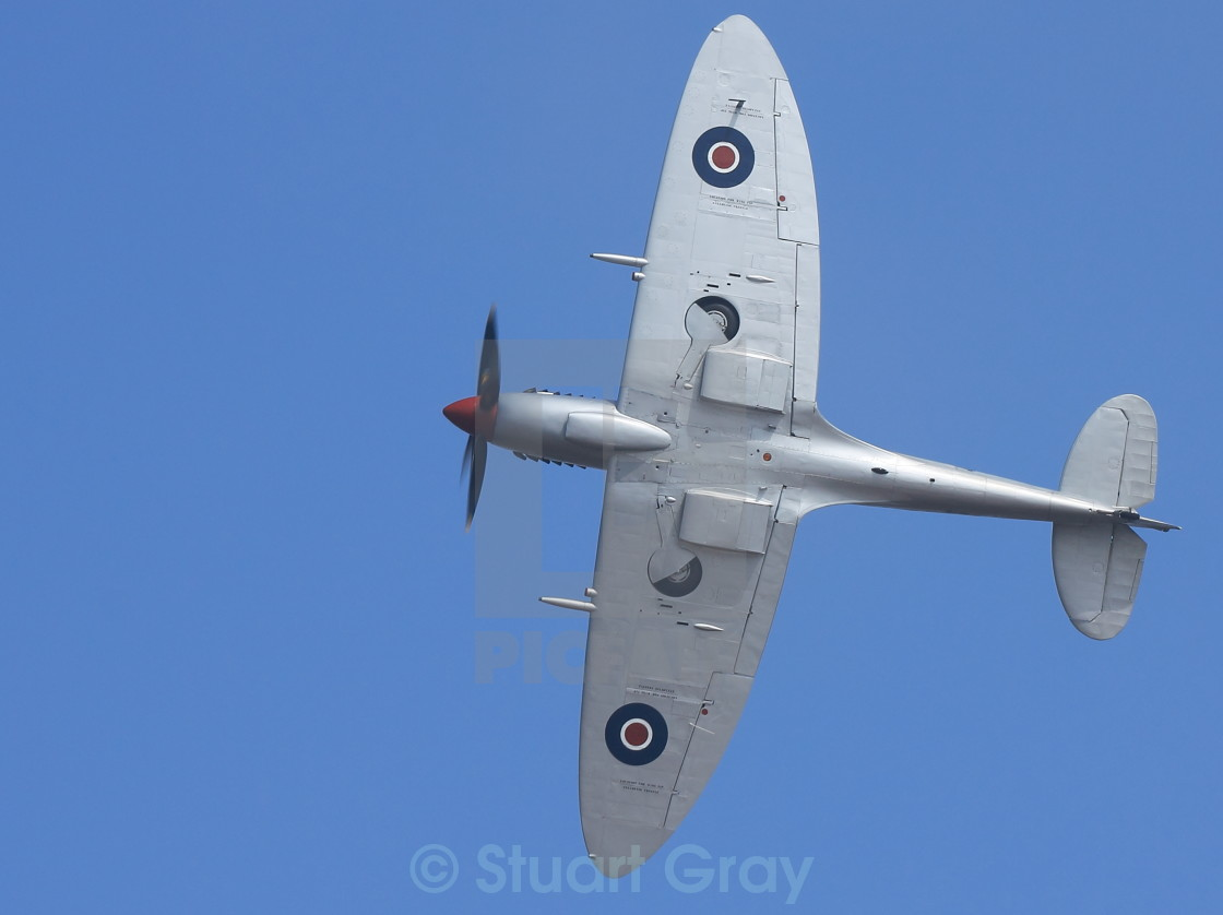 """""""Supermarine Spitfire at air show"""" stock image"""
