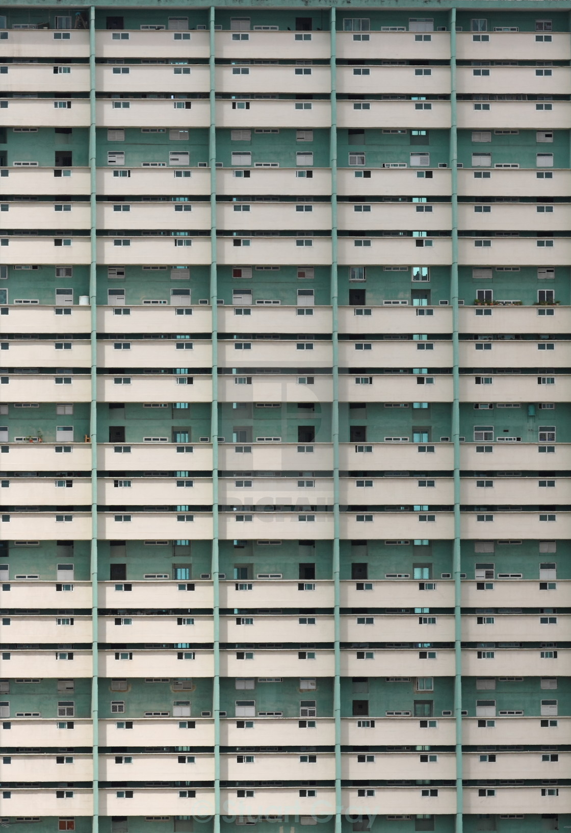 """Apartment building in Havana, Cuba"" stock image"