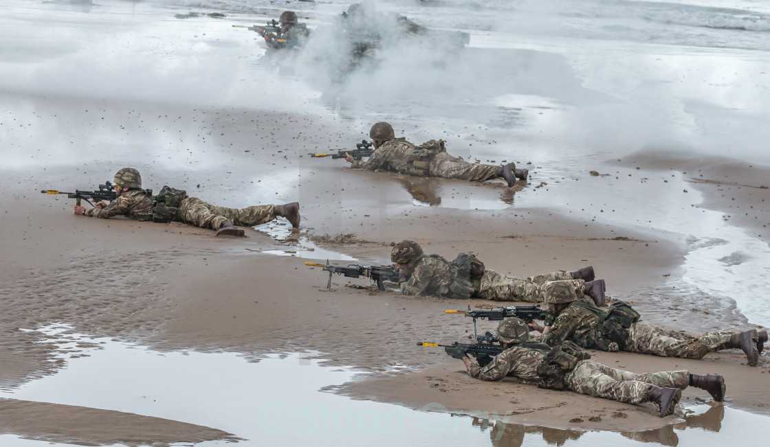 """British Royal Marine Commandos"" stock image"