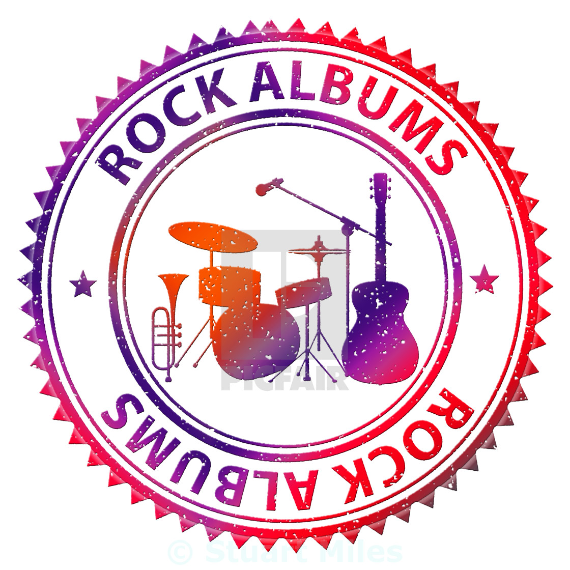 Rock Albums Shows CD Collection And Music - License