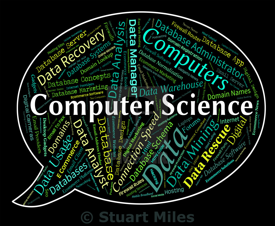 Computer Science Represents Information Technology And Chemist - License,  download or print for £6.20 | Photos | Picfair